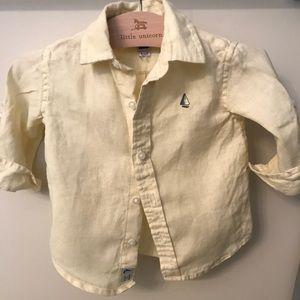 6-12 month button down boys shirt